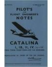Consolidated Catalina I,IB,II & IV-Pilot Notes