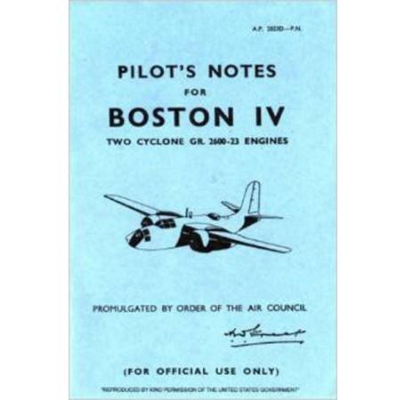 Douglas Boston 4 - Pilot's Notes