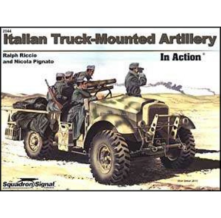 Italian Truck-Mounted Artillery In Action