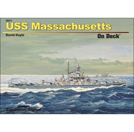 USS Massachusetts On Deck