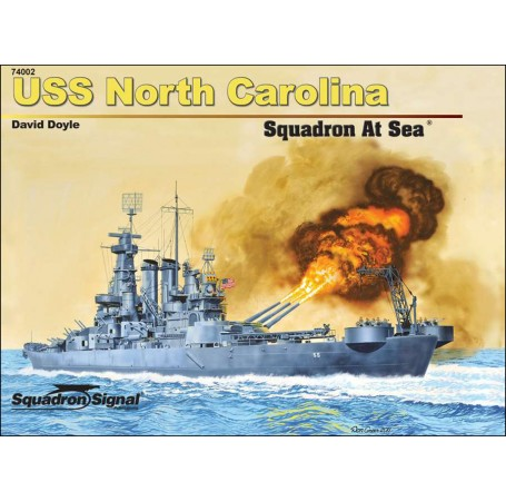 USS North Carolina Squadron At Sea - Hardcover