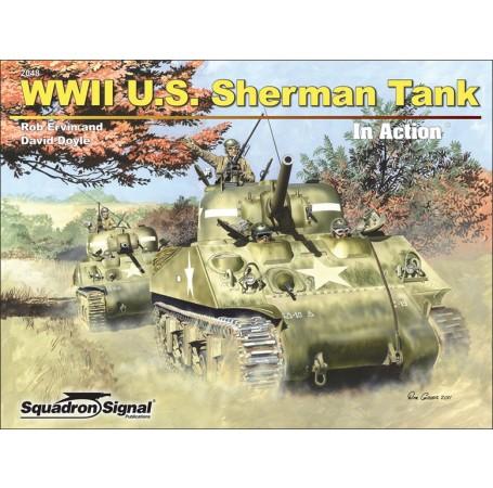 WWII U.S. Sherman Tank In Action