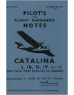 Consolidated Catalina I,IB,II & IV-Pilot Notes